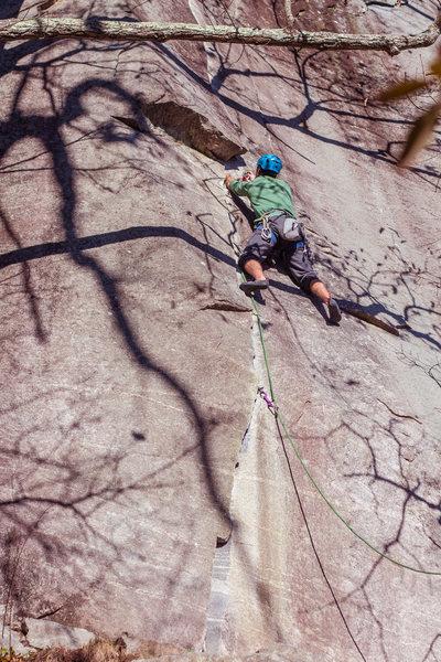 Rock Climbing Photo: matt down low on the route