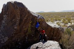 Rock Climbing Photo: Going big on Jingus Bells, Hueco, TX.