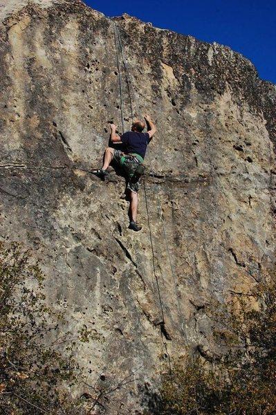 "Spencer on ""Lost"" 5.8, Lost Boulders."