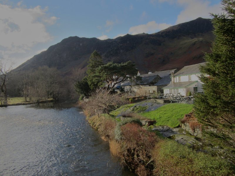 Rock Climbing Photo: Winter in Lakeland . Grange in Borrowdale. Jan. 20...