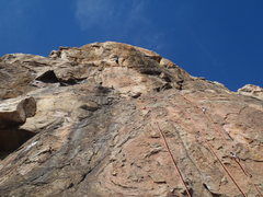 Rock Climbing Photo: The beautiful 4th pitch
