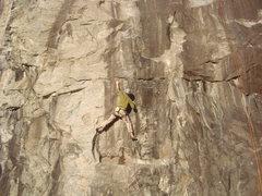 Rock Climbing Photo: Making the reach.