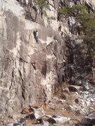 Rock Climbing Photo: Entering the crux.
