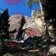 Rock Climbing Photo: Pix Topo of Gold Finger Wall