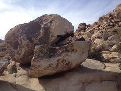 Rock Climbing Photo: Professor Durtschi doing the crux move