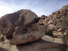 Rock Climbing Photo: preparing for the mantel