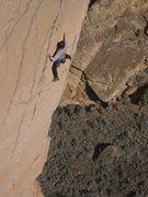Rock Climbing Photo: Monomaniac, circa 2004, sending on Spank the Monke...