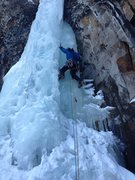 Rock Climbing Photo: Some smooth ice to be found on the Elevator Shaft!