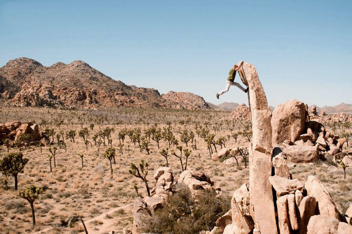 Rock Climbing Photo: Aiguille de Joshua Tree