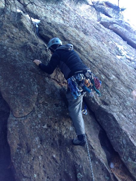 Rock Climbing Photo: Starting the south arete...the easier start is to ...
