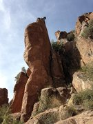 Rock Climbing Photo: Rope's hanging down Simple Fish, quick draws are o...