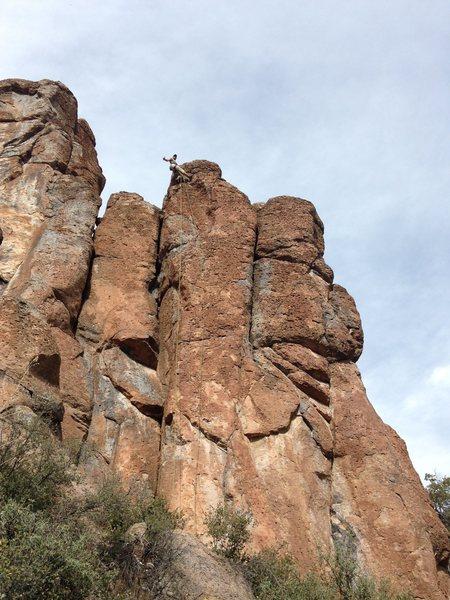 Rock Climbing Photo: AMH at the anchors, photo by Nestor.