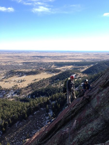 Rock Climbing Photo: Tommy and Danny at the last eyebolt, but 2nd to la...