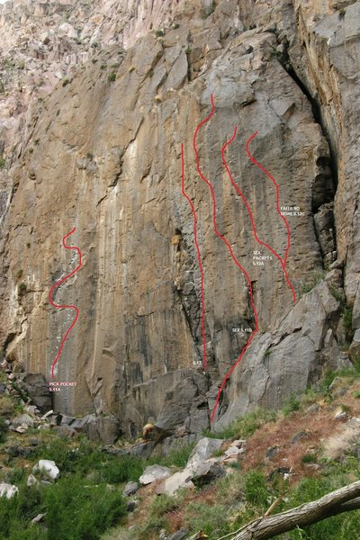 Rock Climbing Photo: Added the lines for Holy Trinity using Euan Camero...