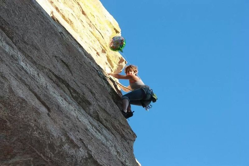 "Rock Climbing Photo: Elisa ""Nubsi"" Phillips climbing ""Bi..."