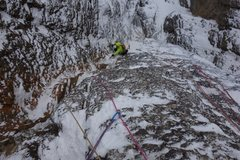 Rock Climbing Photo: Steven VS approaching the first belay on the first...