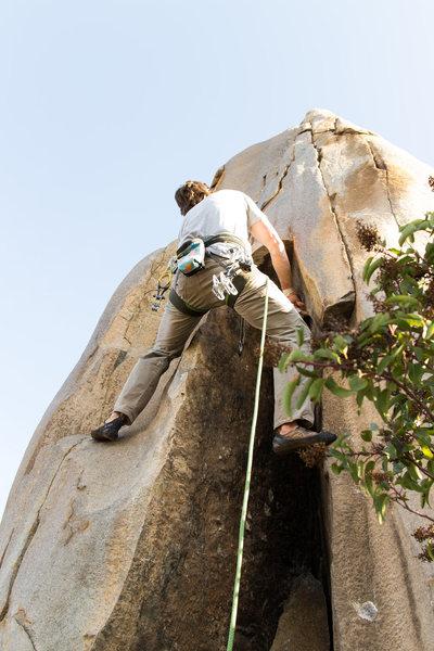 Rock Climbing Photo: Just exiting the pod