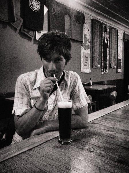 Rock Climbing Photo: Beer Straw