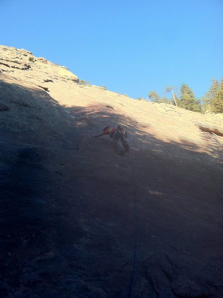 Rock Climbing Photo: 1st flat iron with a rope = waste of time but stil...