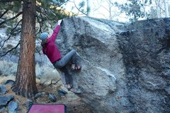 Rock Climbing Photo: Hands on the lip, crux done.