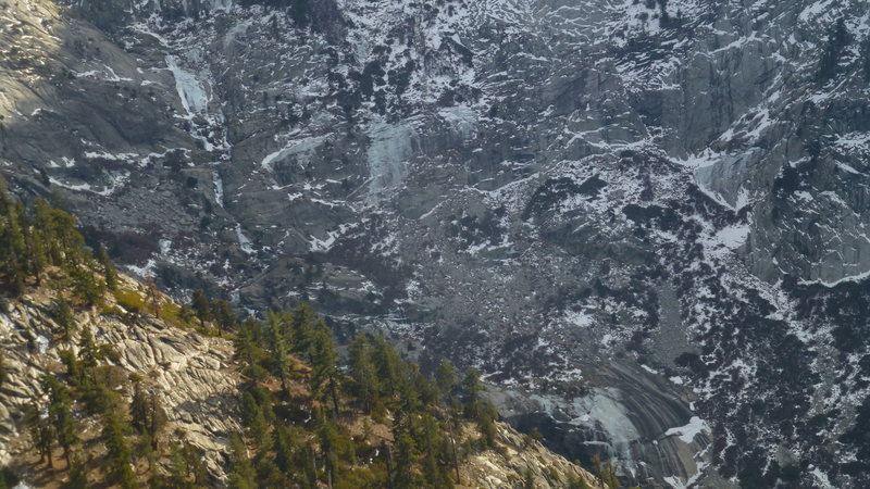 Rock Climbing Photo: Ice in Tokopah Valley 1/19/2014