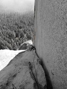 Rock Climbing Photo: Richard Shore on the beautiful P4 dihedral. Photo:...