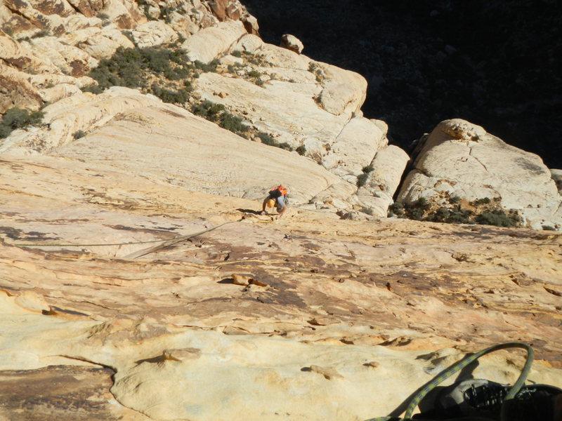 Rock Climbing Photo: Following pitch 3.