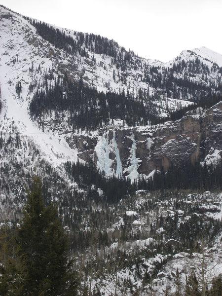 Rock Climbing Photo: Bridal Veil Falls, Telluride, Colorado. (Climber's...