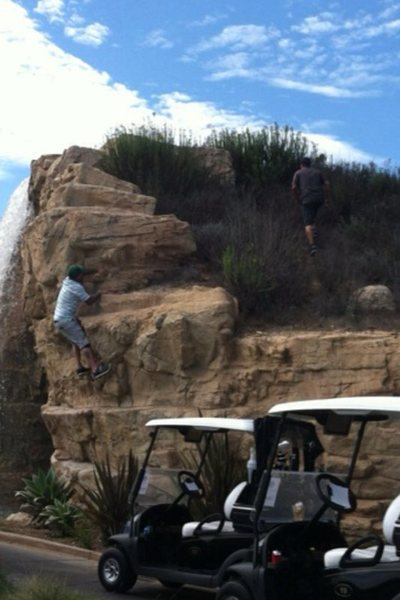 Rock Climbing Photo: Trump National Golf Course boulder...