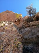 Rock Climbing Photo: Looking up Pitch 3 after the Oven. Photo Marc Tarn...