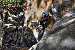Rock Climbing Photo: Eben and Ange on Supercrack