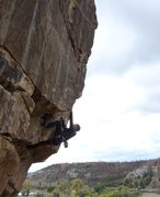 Rock Climbing Photo: Babits milking the jugs and making it look easy .....