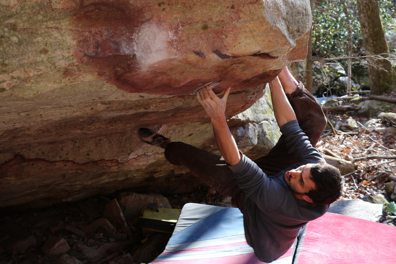 Rock Climbing Photo: Metzman getting serious on Inglorious Bastards.  C...