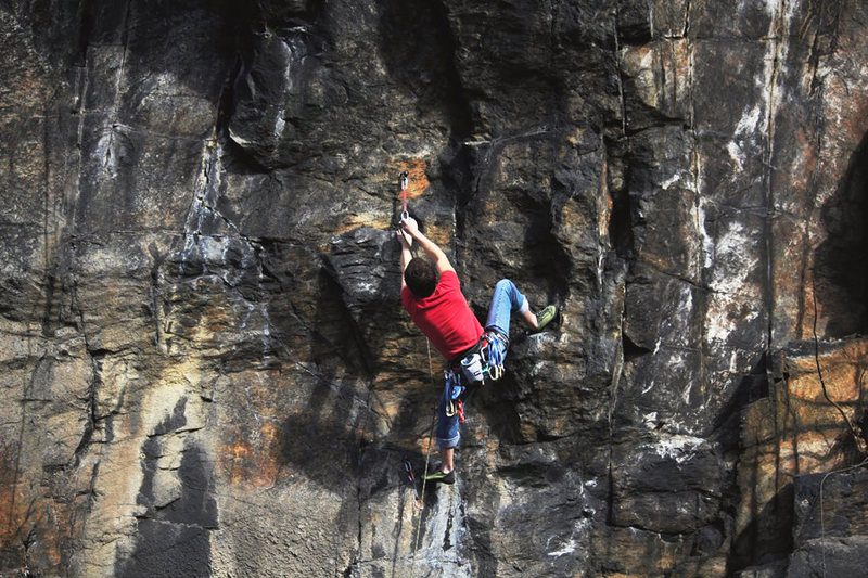 Rock Climbing Photo: Dan Montague on Outrage