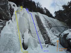 Rock Climbing Photo: Noire Inconnue, left side