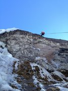 Rock Climbing Photo: Austin T. Rapping from first rap station a top of ...