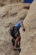"Rock Climbing Photo: Kneebar rest amid the  ""Ugly"" section.  ..."