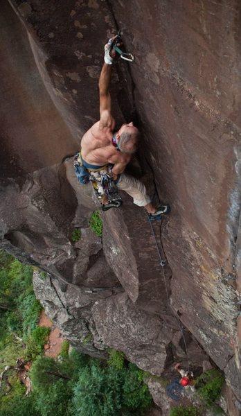 First climb after knee surgery<br>
