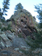 Rock Climbing Photo: The route, showing the upper half.