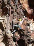 Rock Climbing Photo: George enjoys a warm January day.