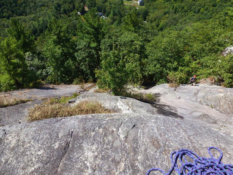 Rock Climbing Photo: Looking down Clip a Dee Doo Dah