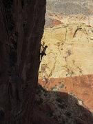 Rock Climbing Photo: Brian on the arete of Lunatic.