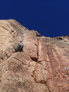 Rock Climbing Photo: Thumbs Up follows the draws hanging on the right u...