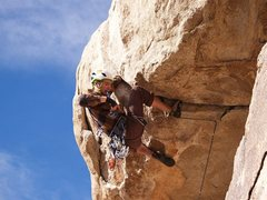 Rock Climbing Photo: Pulling the grit roof