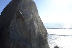Rock Climbing Photo: Working the arete.