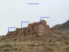 Rock Climbing Photo: Beta photo for The Cape