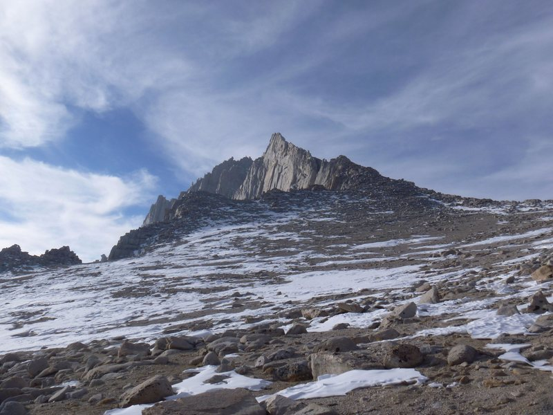 Rock Climbing Photo: East Ridge of Mt Russell looking back from the Rus...