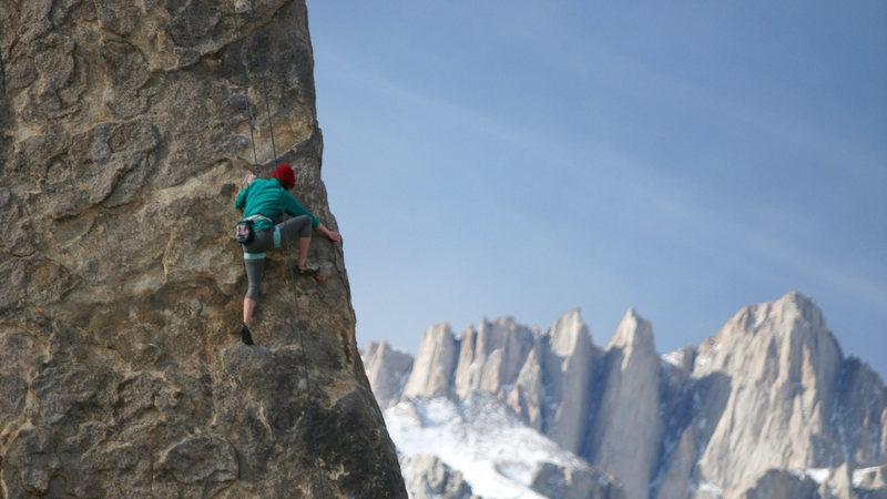 Rock Climbing Photo: Ashley having fun on the Fin. 1/14/14