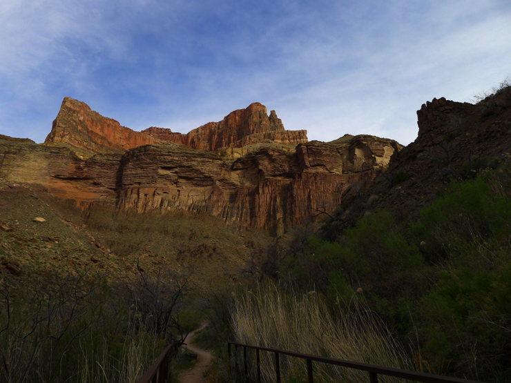 canyon floor, N Kaibab trail