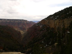 Rock Climbing Photo: descending back down the N Rim on my r2r2r death m...